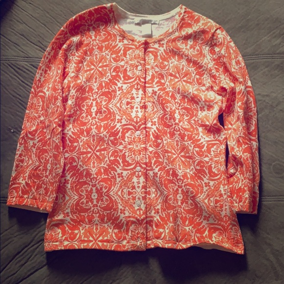 Sarah Spencer Sweaters - Orange button sweater!
